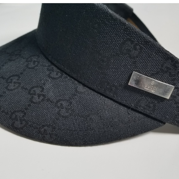 db2f64b228183 Gucci Accessories - Gucci Black Sun Visor Golf Cap Made in Italy